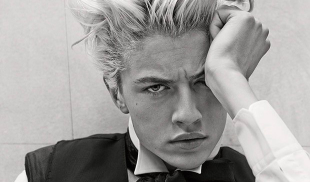 Lucky Blue Smith In Dolce & Gabbana Sartoria